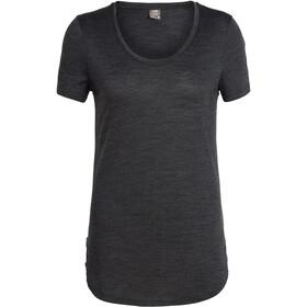 Icebreaker Solace SS Scoop Shirt Women black heather